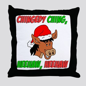 Italian Christmas Donkey Throw Pillow